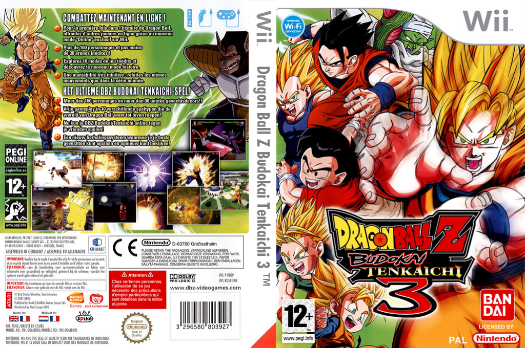 Dragon Ball Z:Budokai Tenkaichi 3 Wii coverfullHQ (RDSPAF)