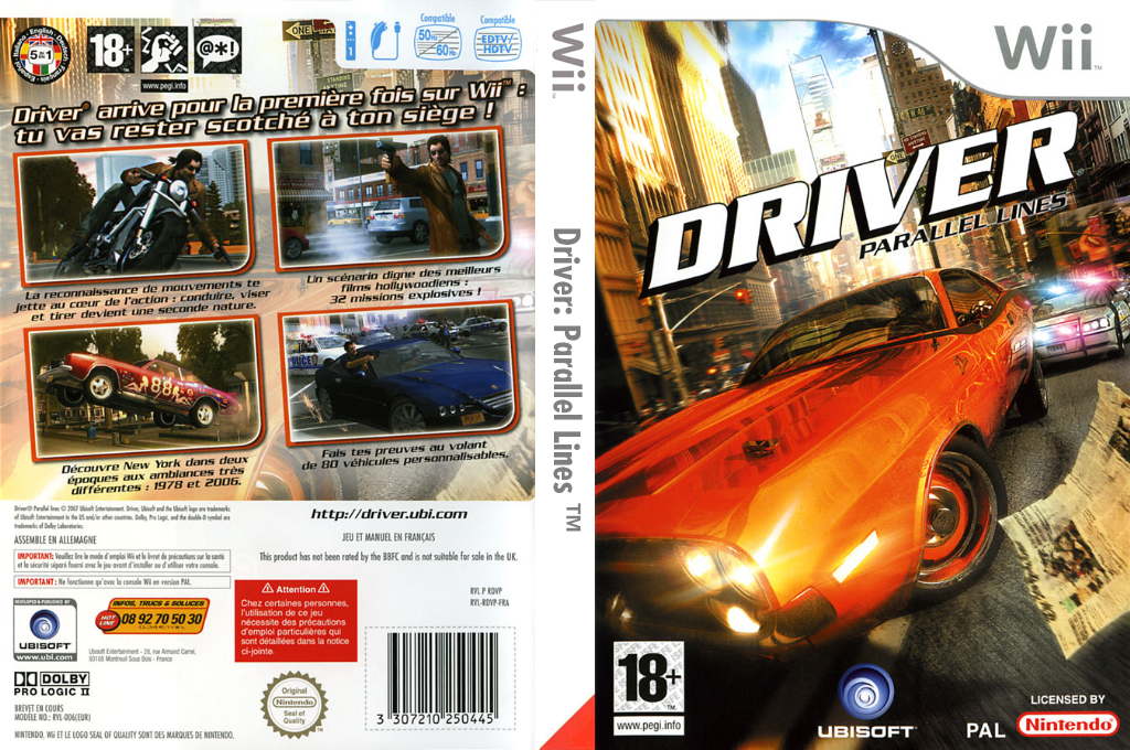 Driver:Parallel Lines Wii coverfullHQ (RDVP41)