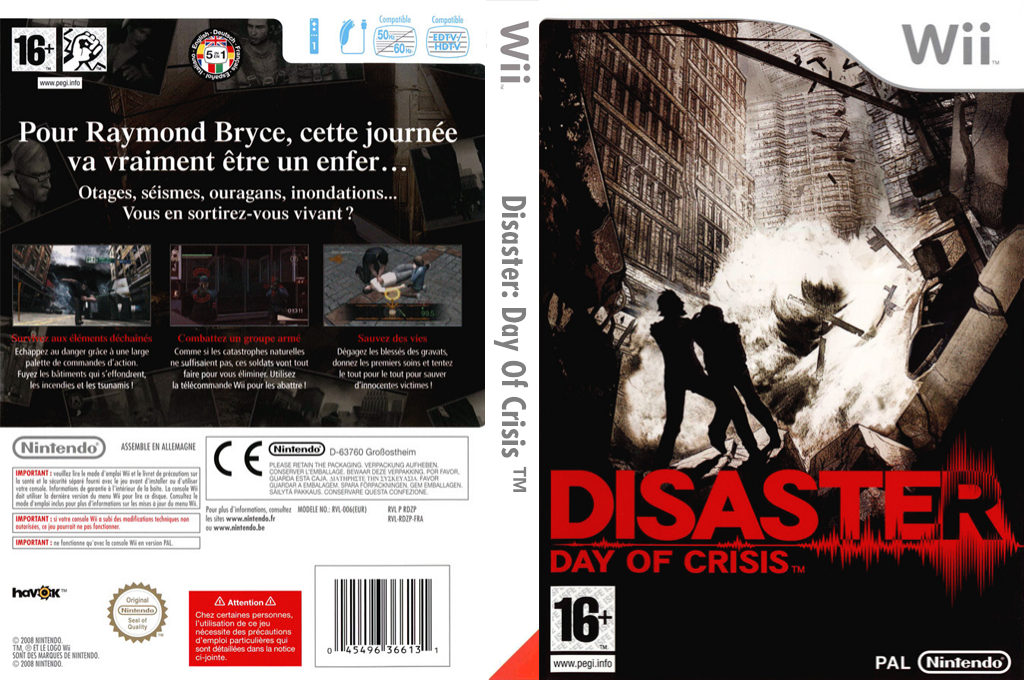 Disaster : Day of Crisis Wii coverfullHQ (RDZP01)