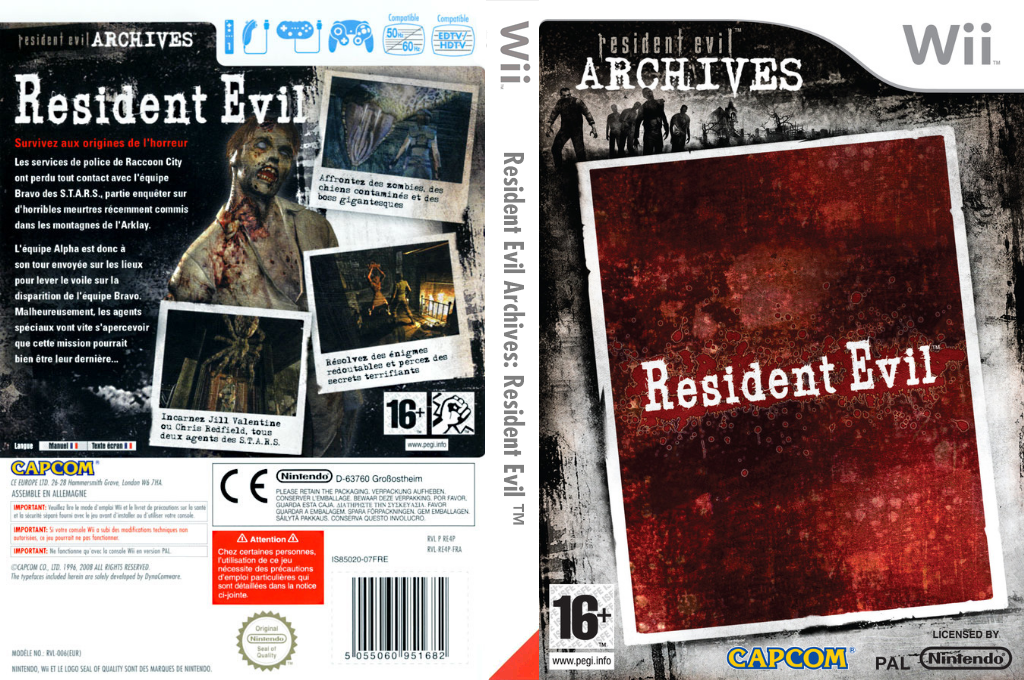 Resident Evil Archives : Resident Evil Wii coverfullHQ (RE4P08)