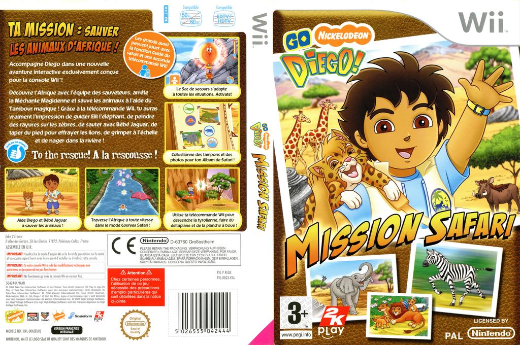 Go Diego! Mission Safari Wii coverfullHQ (REQX54)
