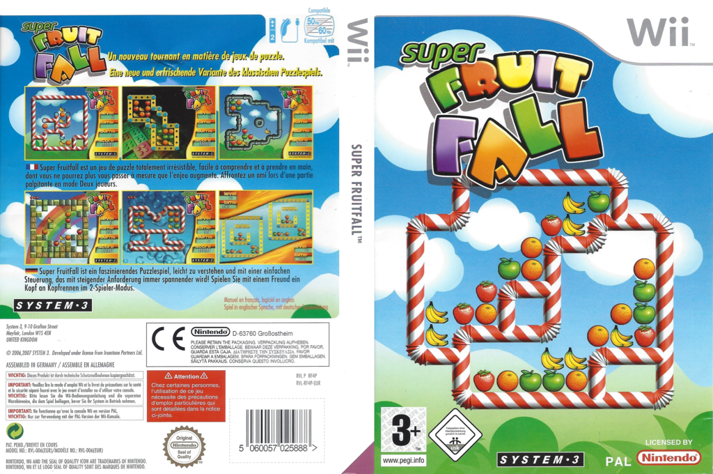 Super Fruit Fall Wii coverfullHQ (RF4P6M)