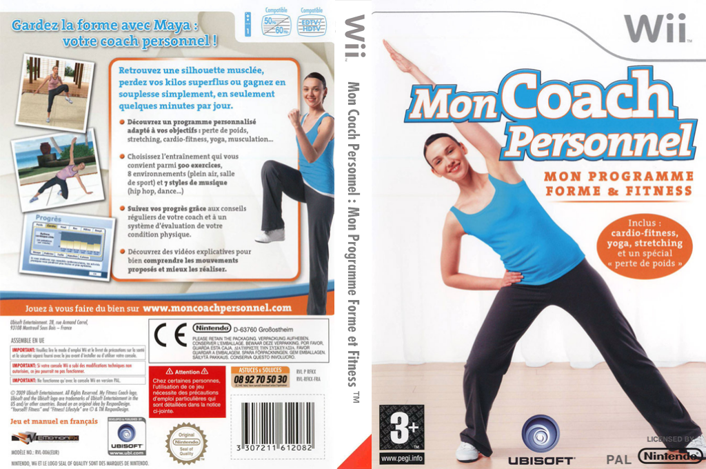 Mon Coach Personnel : Mon Programme Forme et Fitness Wii coverfullHQ (RFKP41)