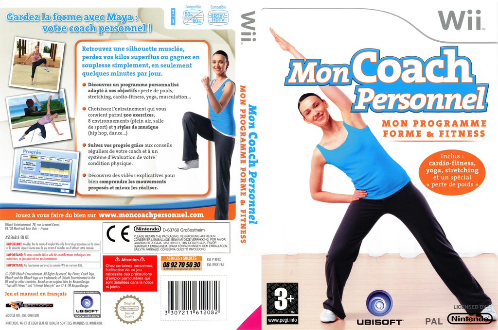 Mon Coach Personnel : Mon Programme Forme et Fitness Wii coverfullHQ (RFKX41)