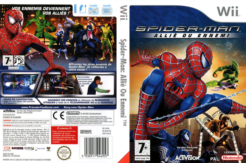 Spider-Man:Allié Ou Ennemi Wii coverfullHQ (RFOP52)