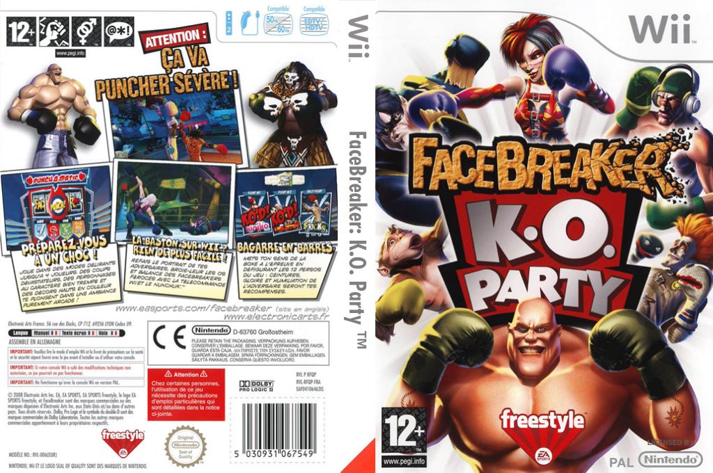 FaceBreaker:K.O. Party Wii coverfullHQ (RFQP69)
