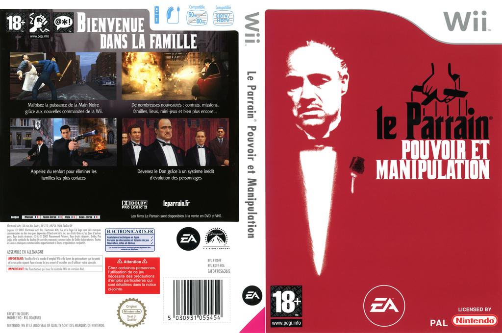 Le Parrain:Pouvoir et Manipulation Wii coverfullHQ (RGFF69)