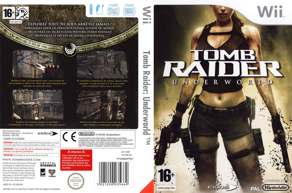 Tomb Raider : Underworld Wii coverfullHQ (RH8P4F)