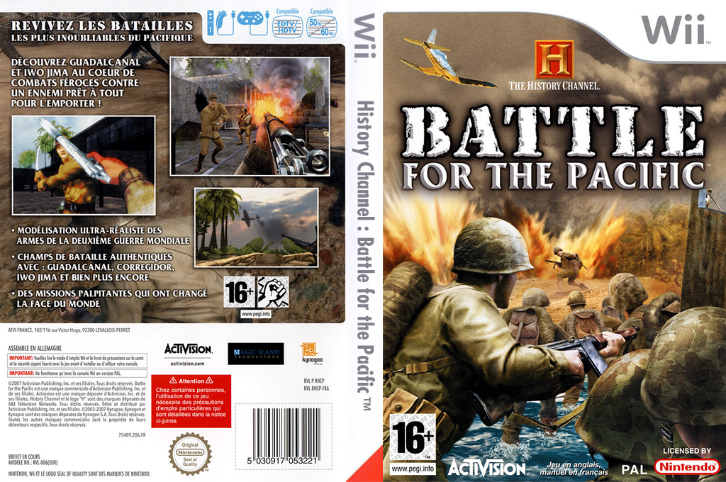 The History Channel : Battle for the Pacific Wii coverfullHQ (RHCP52)
