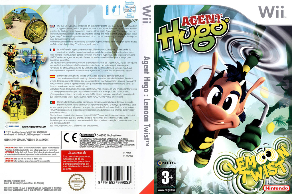 Agent Hugo:Lemoon Twist Wii coverfullHQ (RHGP6Z)