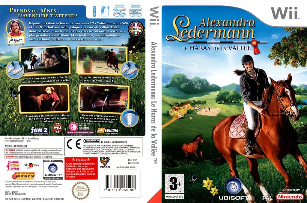 Alexandra Ledermann:Le Haras de la Vallée Wii coverfullHQ (RHZP41)
