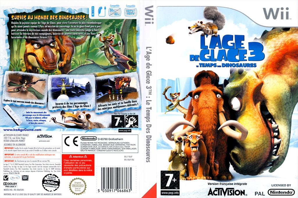 L'Age de Glace 3:Le Temps des Dinosaures Wii coverfullHQ (RIAP52)