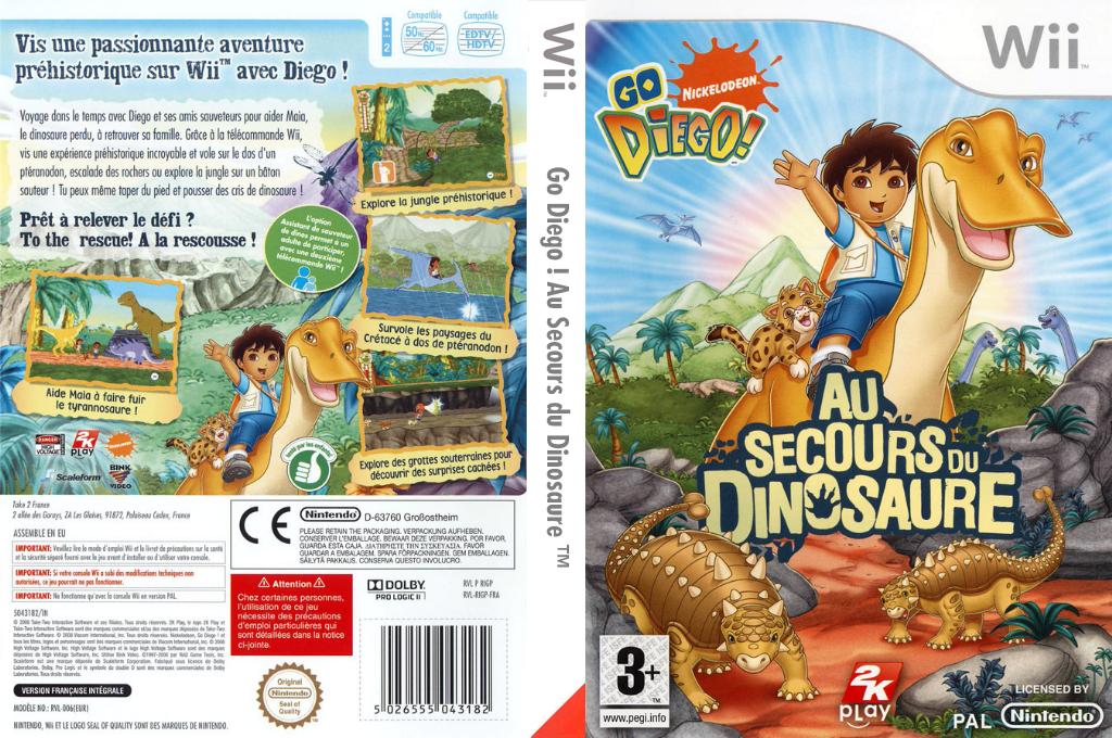 Go, Diego, Go ! Au Secours du Dinosaure Wii coverfullHQ (RIGP54)