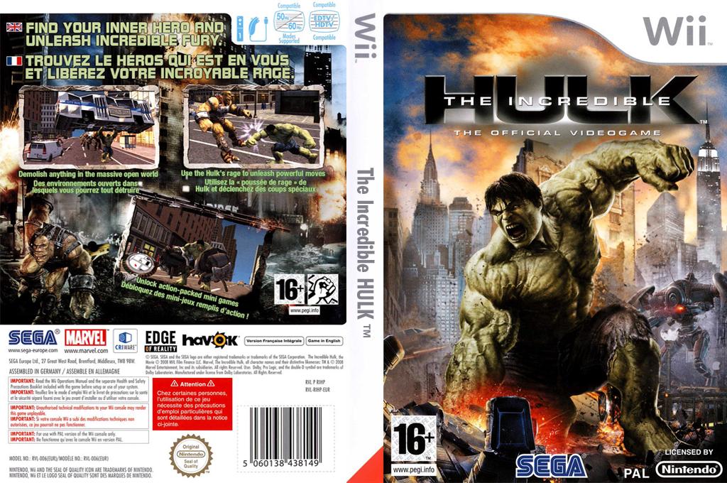 L'Incroyable Hulk Wii coverfullHQ (RIHP8P)