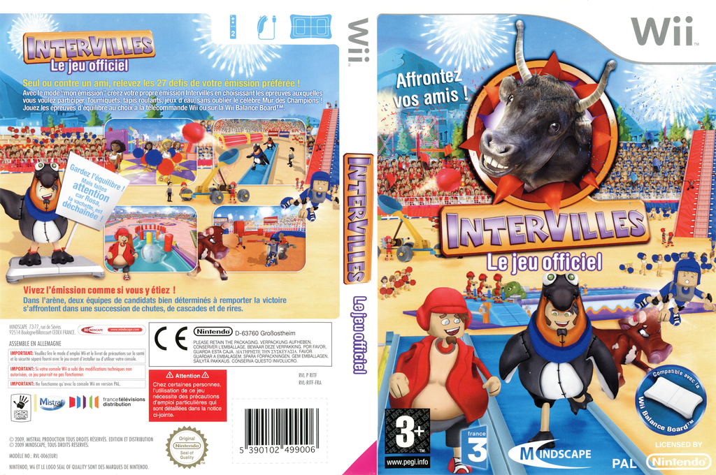 Intervilles : Le Jeu Officiel Wii coverfullHQ (RITFMR)