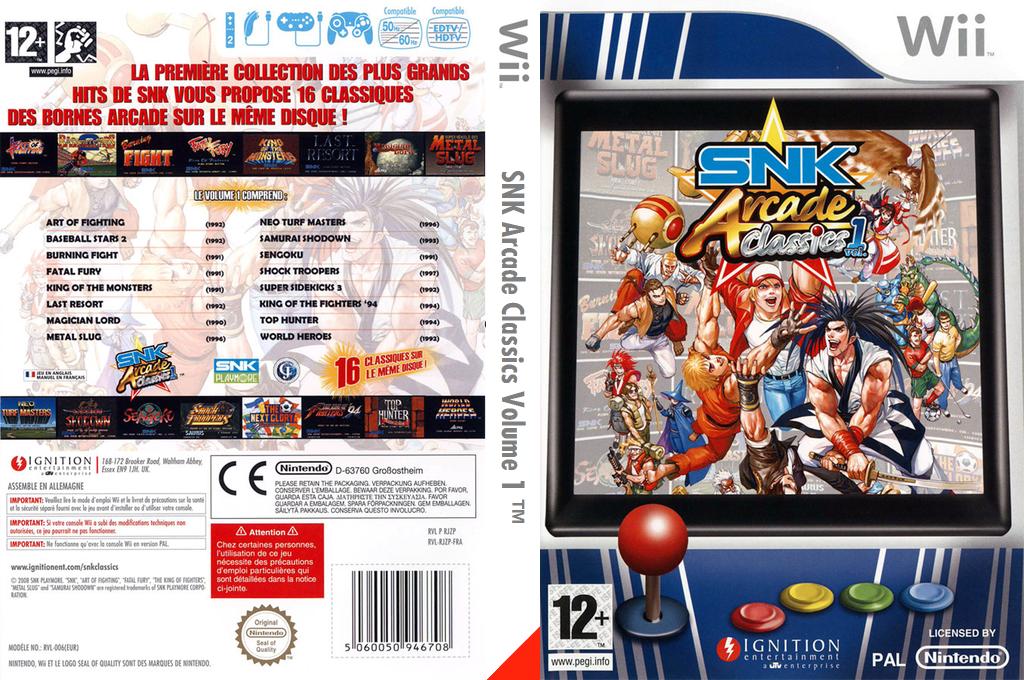 SNK Arcade Classics Volume 1 Wii coverfullHQ (RJZP7U)
