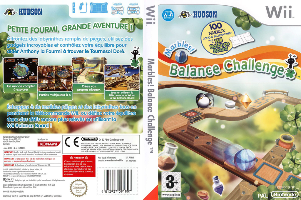 Marbles! Balance Challenge Wii coverfullHQ (RK6P18)