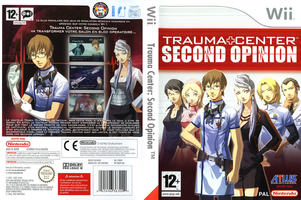 Trauma Center : Second Opinion Wii coverfullHQ (RKDP01)