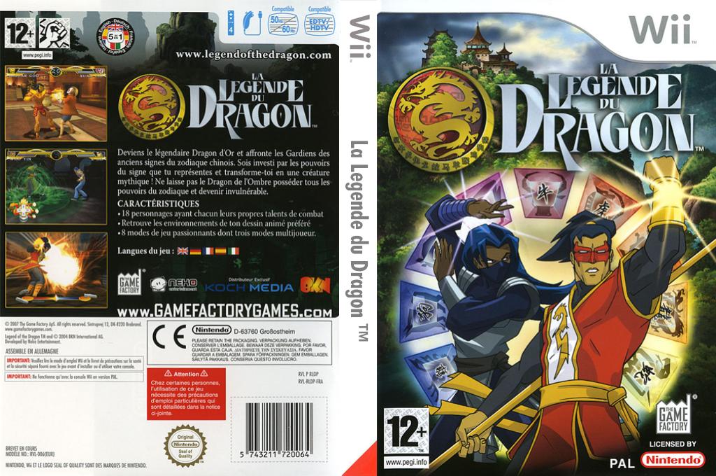 La Legende du Dragon Wii coverfullHQ (RLDPFK)