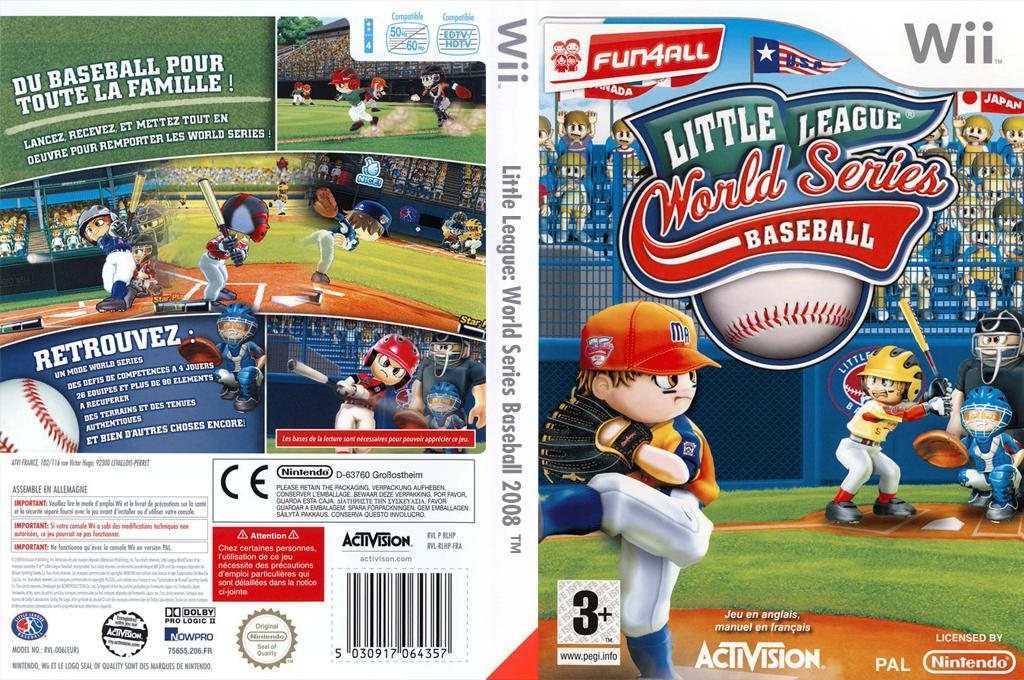 Little League World Series Baseball 2008 Wii coverfullHQ (RLHP52)
