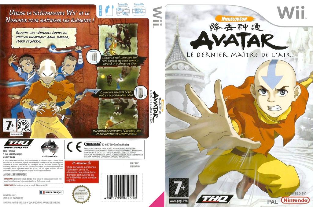 Avatar:Le Dernier Maître de l'Air Wii coverfullHQ (RLVP78)