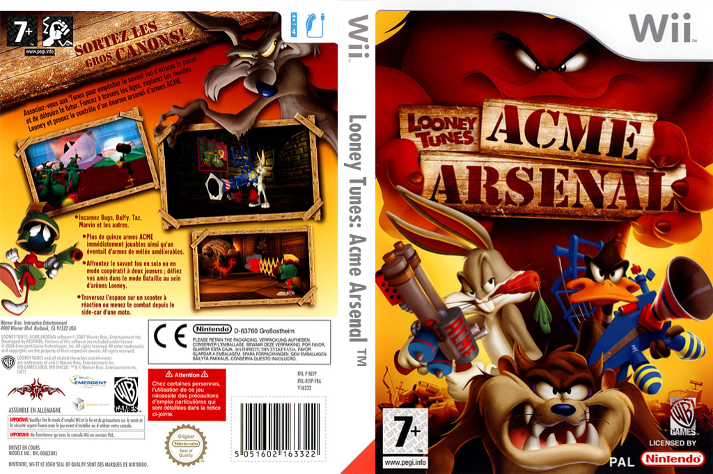 Looney Tunes: Acme Arsenal Wii coverfullHQ (RLYPWR)