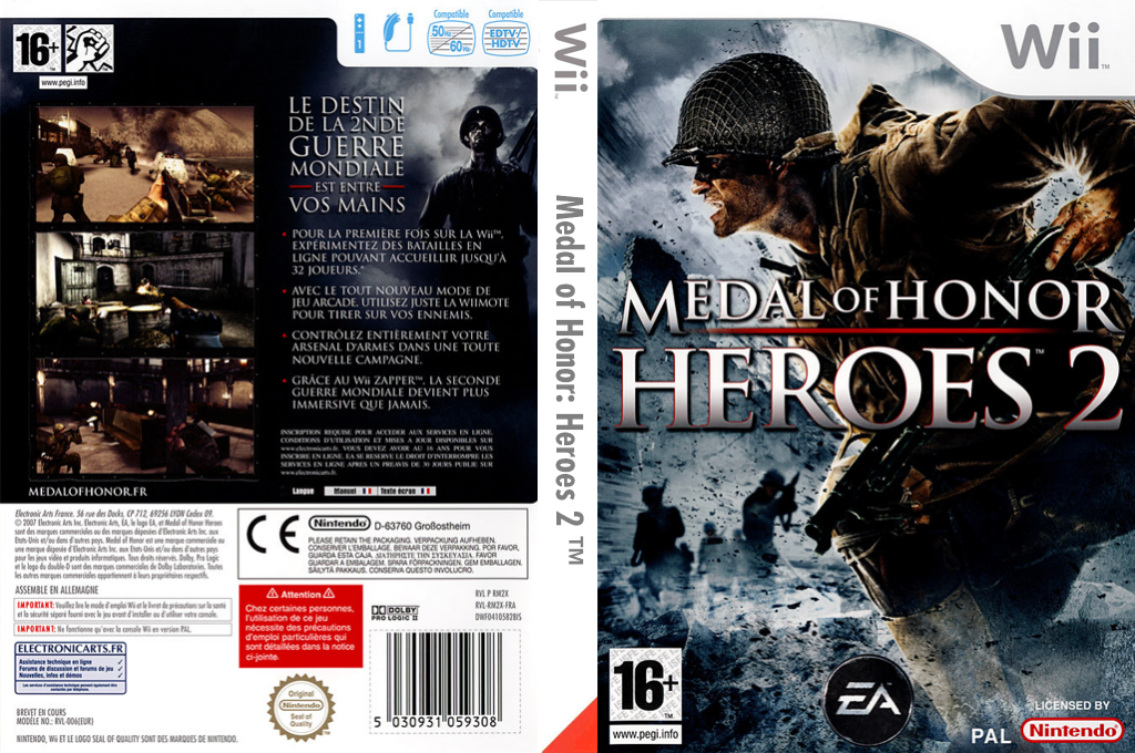 Medal of Honor:Heroes 2 Wii coverfullHQ (RM2X69)