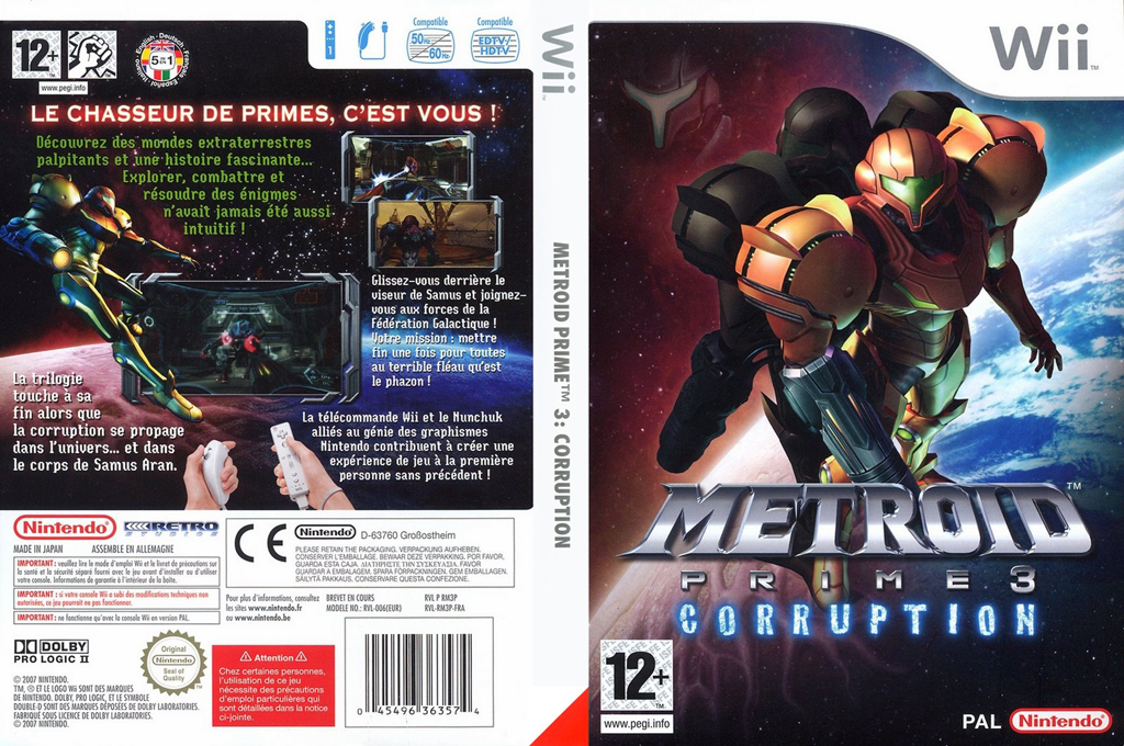Metroid Prime 3 : Corruption Wii coverfullHQ (RM3P01)