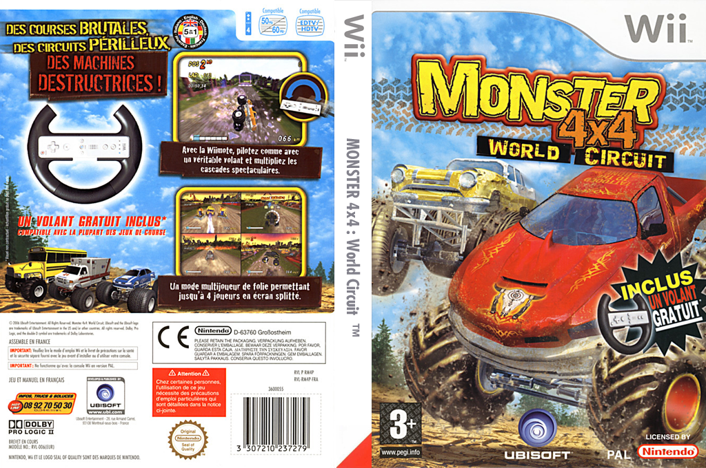 Monster 4x4 : World Circuit Wii coverfullHQ (RM4P41)