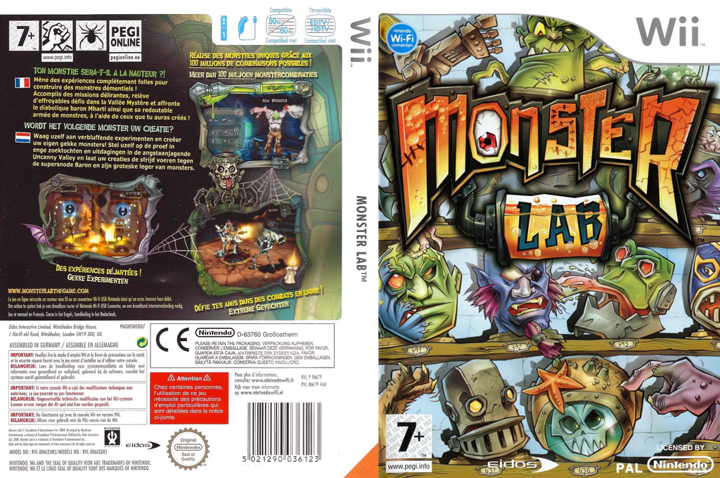 Monster Lab Wii coverfullHQ (RM7P4F)