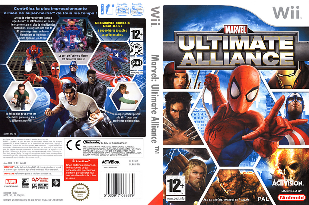 Marvel:Ultimate Alliance Wii coverfullHQ (RMUP52)