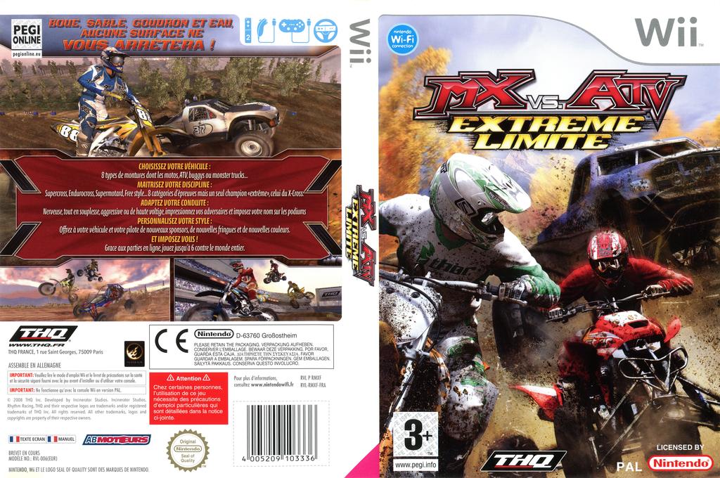 MX vs. ATV:Extreme Limite Wii coverfullHQ (RMXF78)