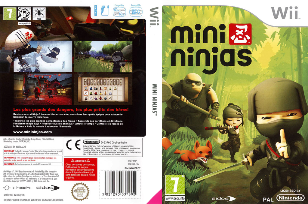 Mini Ninjas Wii coverfullHQ (RNJP4F)