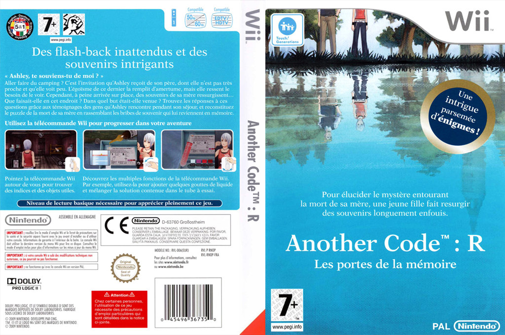 Another Code : R - Les Portes de la Mémoire Wii coverfullHQ (RNOP01)