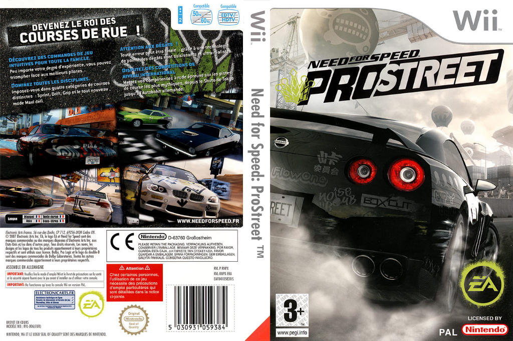 Need for Speed : ProStreet Wii coverfullHQ (RNPP69)