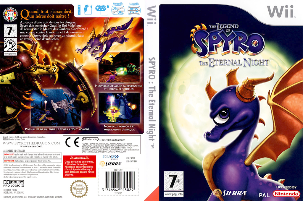 The Legend of Spyro :The Eternal Night Wii coverfullHQ (RO7P7D)