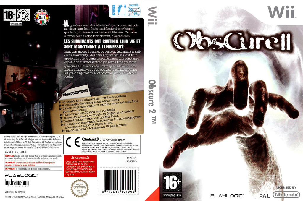 Obscure 2 Wii coverfullHQ (ROBPPL)