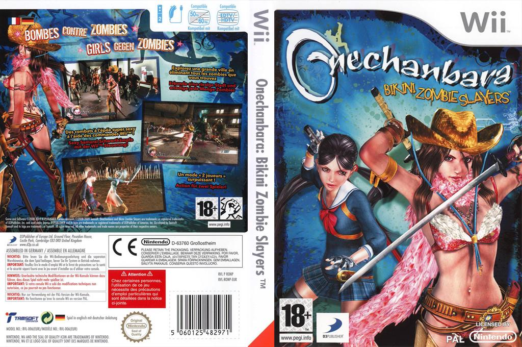 Onechanbara:Bikini Zombie Slayers Wii coverfullHQ (RONPG9)