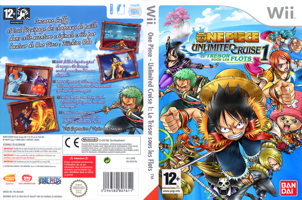 One Piece - Unlimited Cruise 1 : Le Trésor sous les Flots Wii coverfullHQ (ROUPAF)