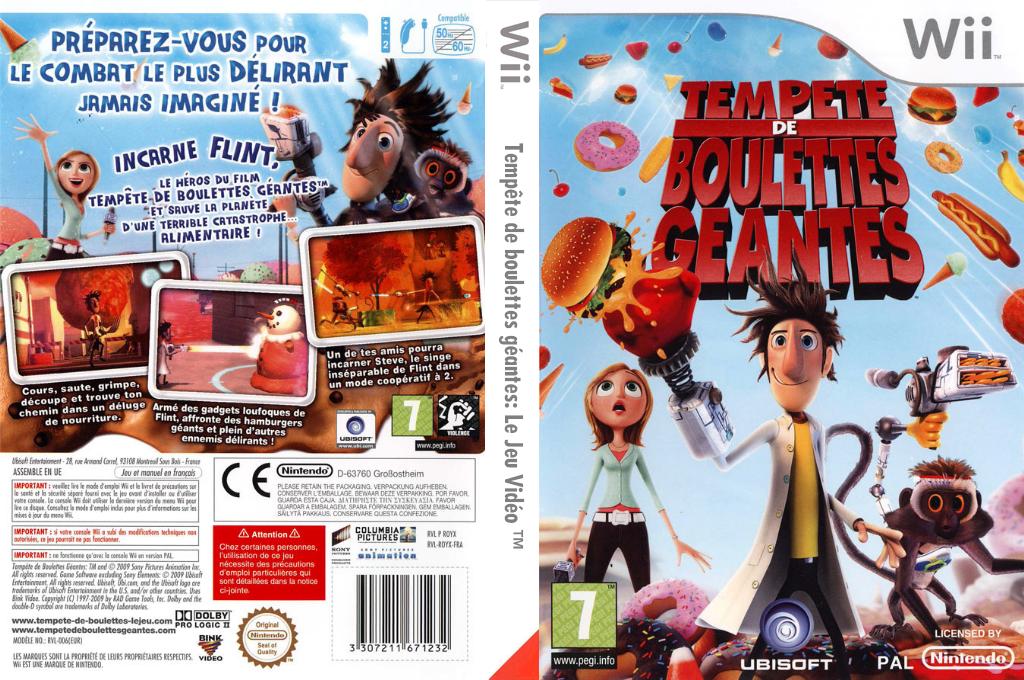 Tempête de boulettes géantes:Le Jeu Vidéo Wii coverfullHQ (ROYX41)