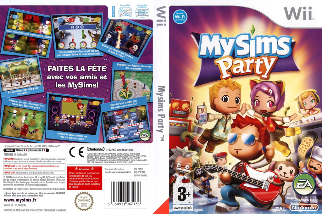 MySims Party Wii coverfullHQ (RP4P69)