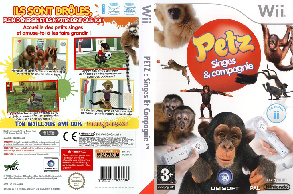 Petz : Singes & Compagnie Wii coverfullHQ (RP6P41)