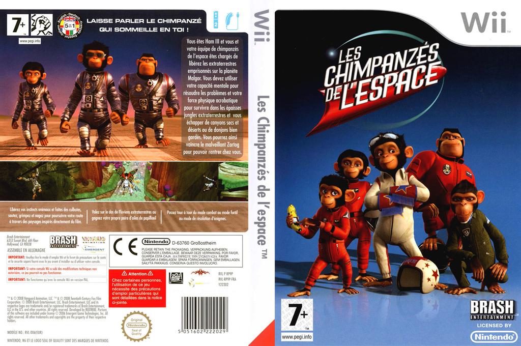 Les Chimpanzés de l'Espace Wii coverfullHQ (RP9PRS)