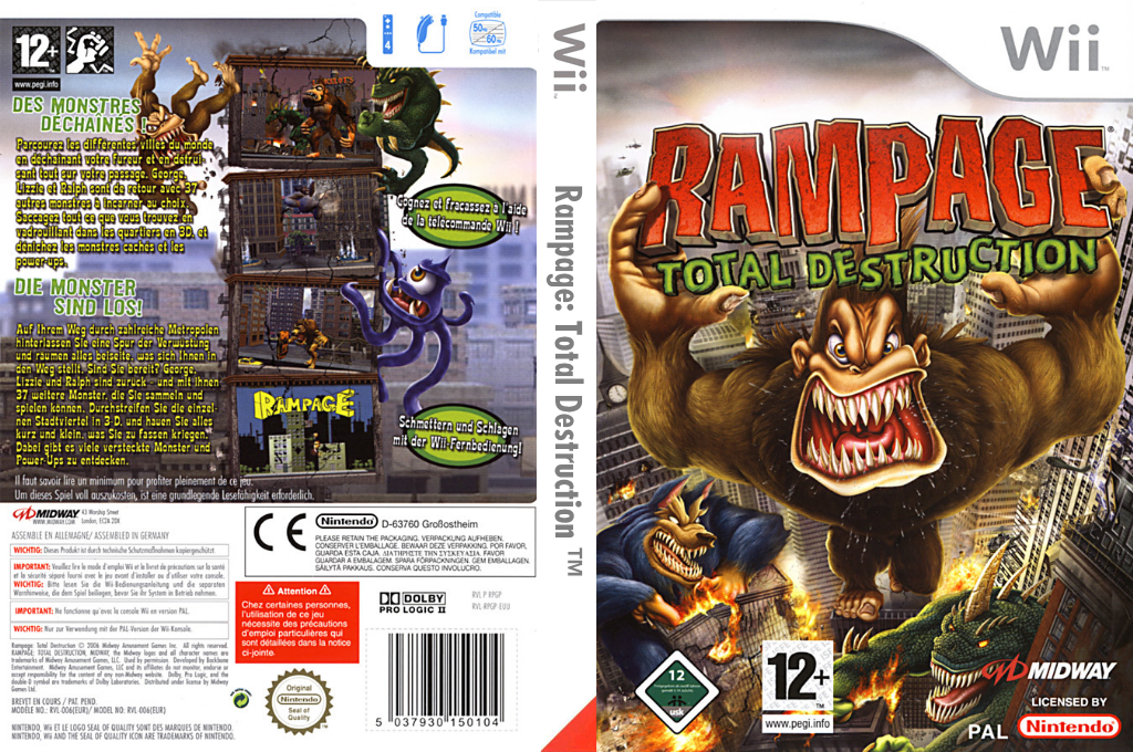 Rampage : Total Destruction Wii coverfullHQ (RPGP5D)