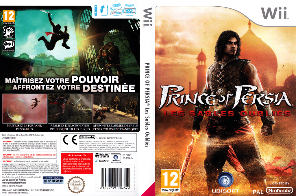 Prince of Persia : Les Sables Oubliés Wii coverfullHQ (RPWX41)