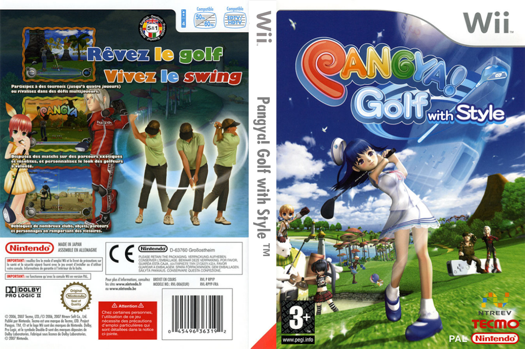 Pangya! Golf with Style Wii coverfullHQ (RPYP9B)