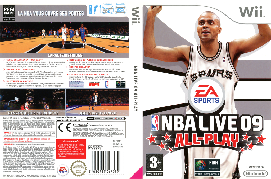 NBA Live 09 All-Play Wii coverfullHQ (RQ9F69)