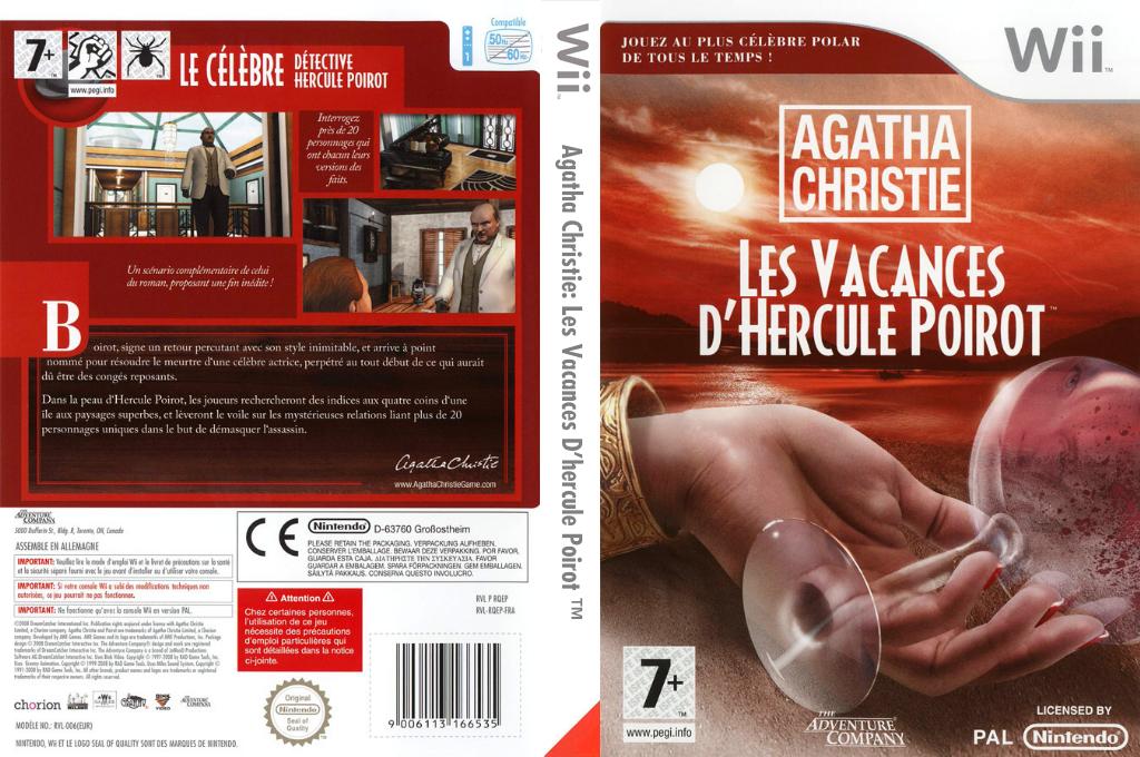 Agatha Christie:Les Vacances d'Hercule Poirot Wii coverfullHQ (RQEP6V)