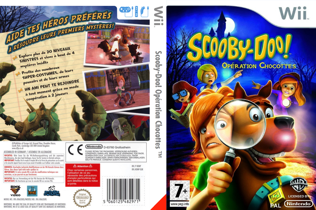 Scooby-Doo! Opération Chocottes Wii coverfullHQ (RQNPWR)