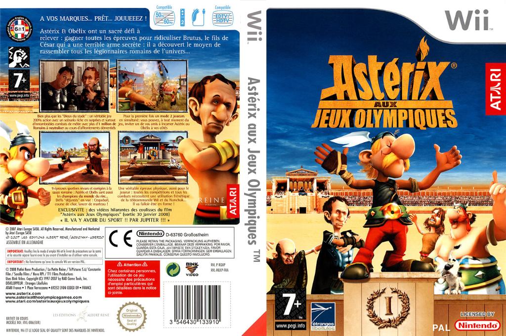 Astérix aux Jeux Olympiques Wii coverfullHQ (RQXP70)